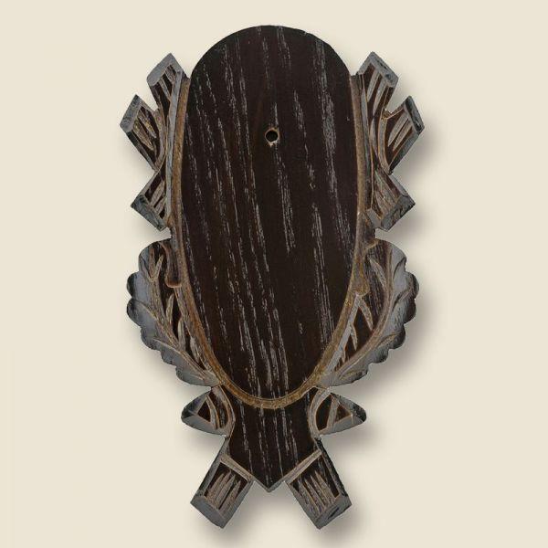 Bild Gehörnbrettchen Eiche dunkel geschnitzt, 18x9cm