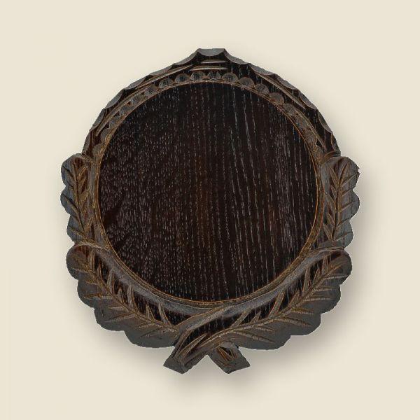 Bild Trophäenschild dunkel, geschnitzt, 12cm
