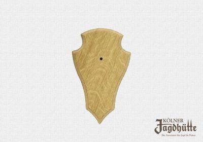 Gehörnbrettchen Eiche hell 19x12cm, unten spitze Form