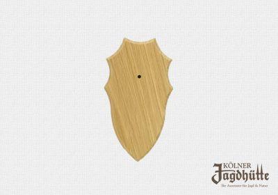 Gehörnbrettchen Eiche hell 21x12cm, Wappenform 6 Ecken
