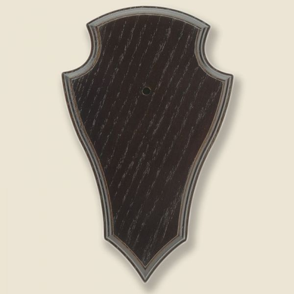 Bild Gehörnbrettchen Eiche dunkel 19x12cm, unten spitze Form