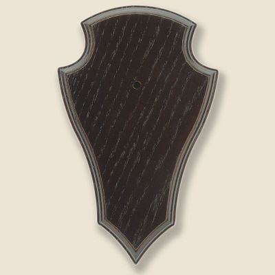 Gehörnbrettchen Eiche dunkel 19x12cm, unten spitze Form